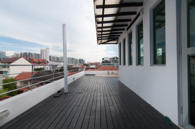 Singapore Landed Property Roof Terrace